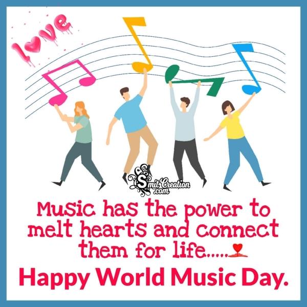 Happy World Music Day Status Image