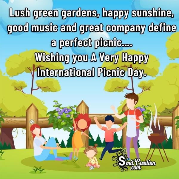 Wishing A Very Happy International Picnic Day