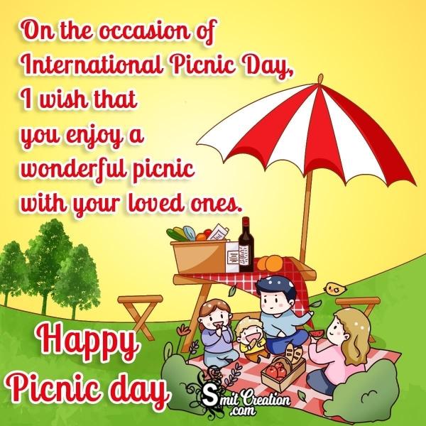Happy Picnic Day Wish Greetings