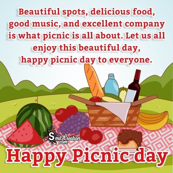 Happy Picnic Day Wishes Quote
