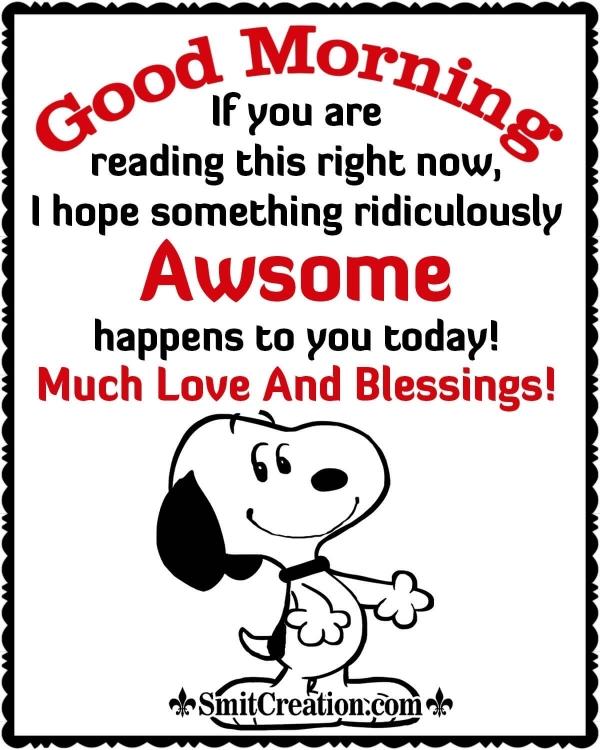 Awsome Good Morning Message