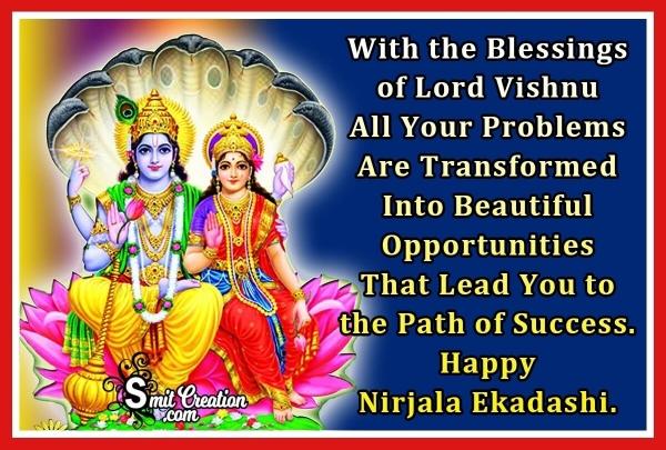 Nirjala Ekadashi Blessings Image