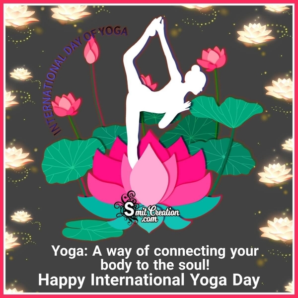 Happy Internation Yoga Day Quote Image