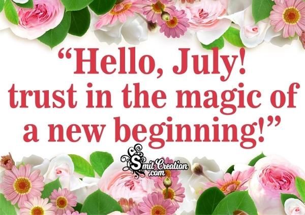 Hello, July Image