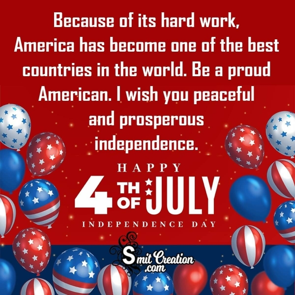 Fourth of July Greetings For an American Friend