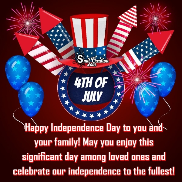 Happy 4th of July Message Image