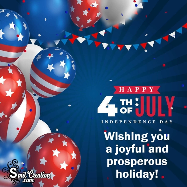 Wishing Happy 4th of July