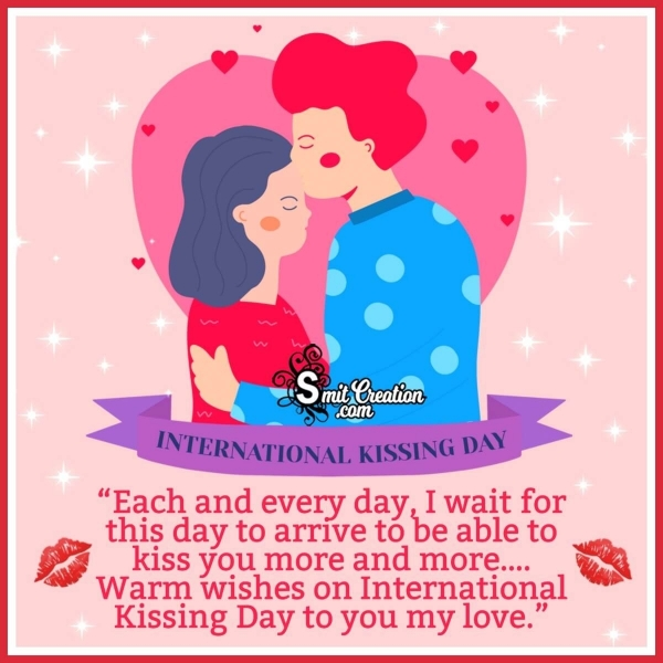 Warm Wishes On International Kissing Day Image