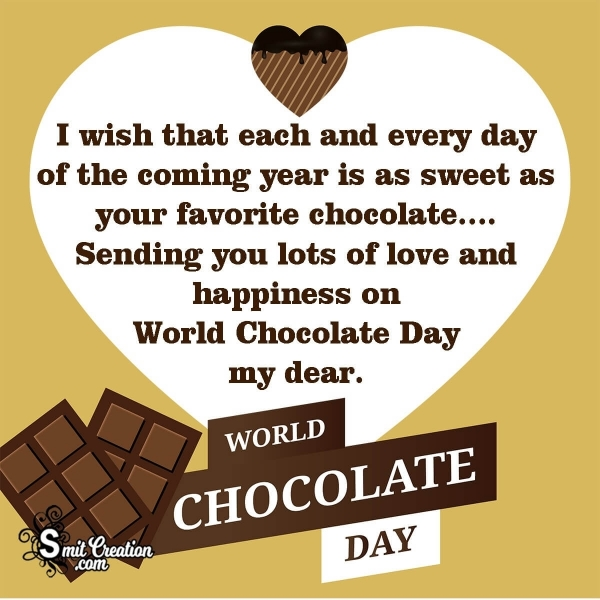 World Chocolate Day Wish Message