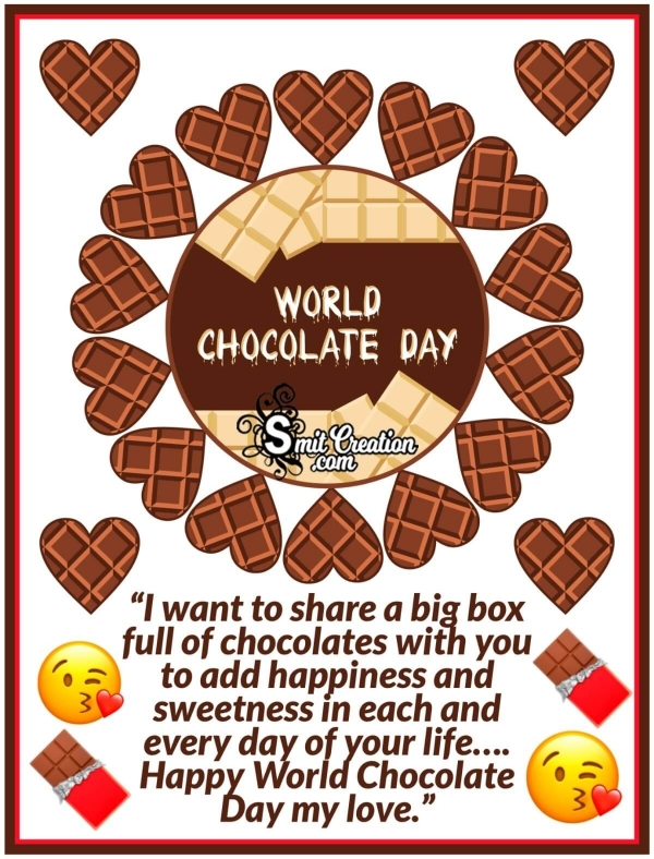 World Chocolate Day Messages for Girlfriend