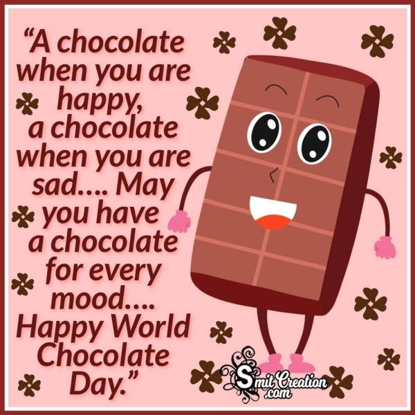 Happy World Chocolate Day Whatsapp Status