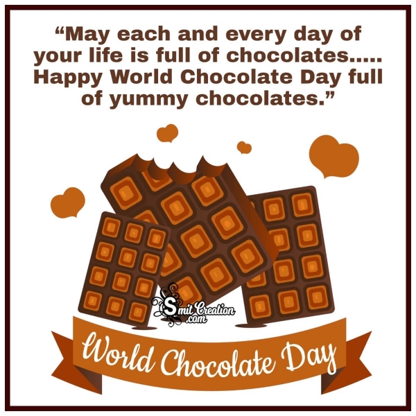 Happy World Chocolate Day For Whatsapp