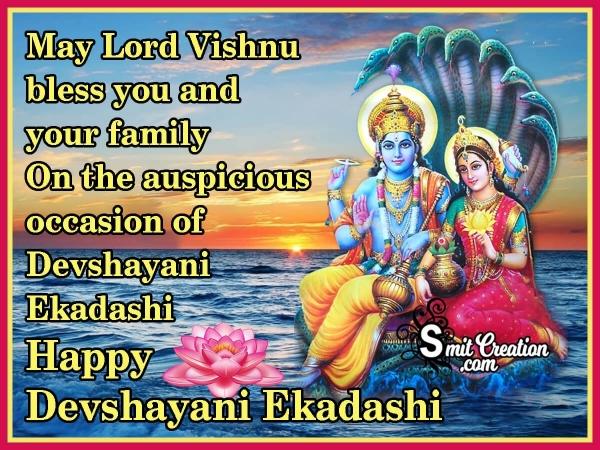 Happy Devshayani Ekadashi Blessings
