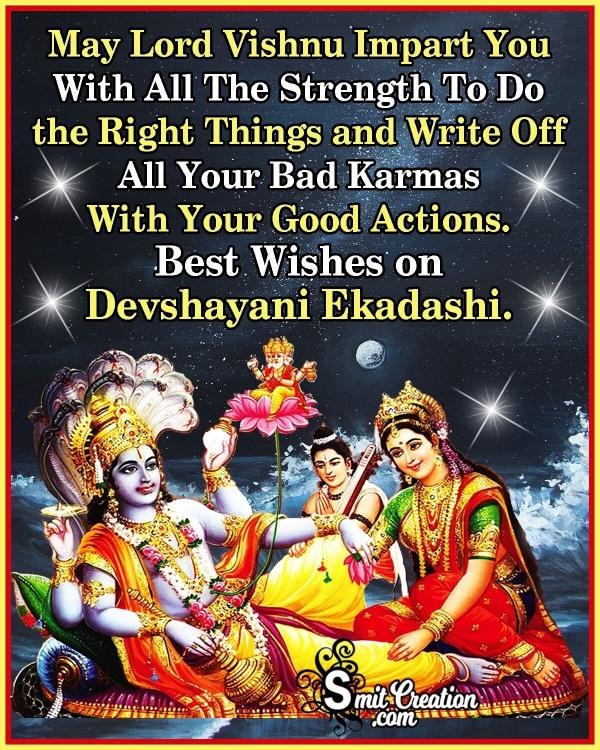 Best Wishes On Devshayani Ekadashi