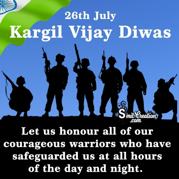 26th July Kargil Vijay Diwas Message