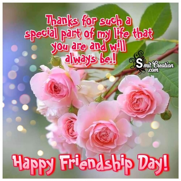 Happy Friendship Day Thank You Image