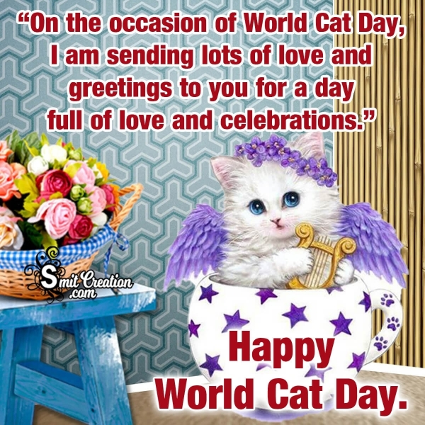 Happy World Cat Day Greetings