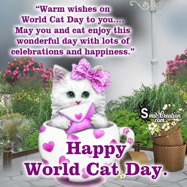 Happy World Cat Day Message