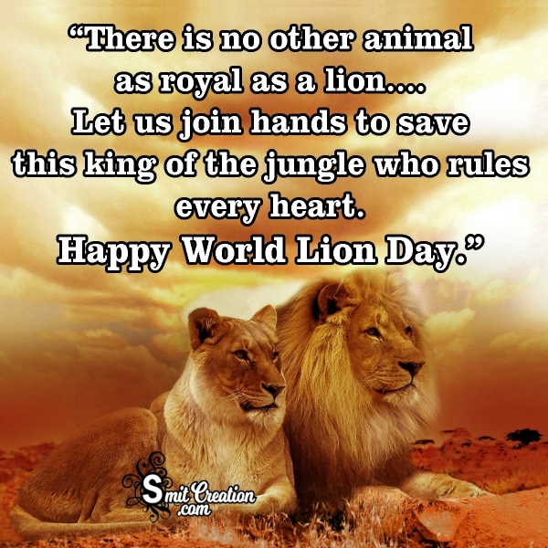 World Lion Day Messages