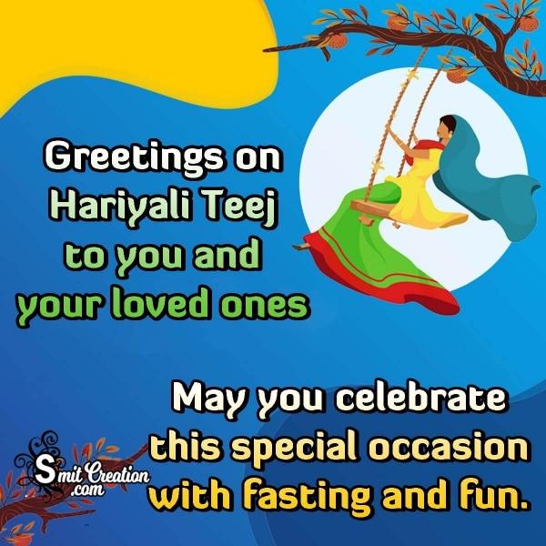 Hariyali Teej Festival Whatsapp Messages