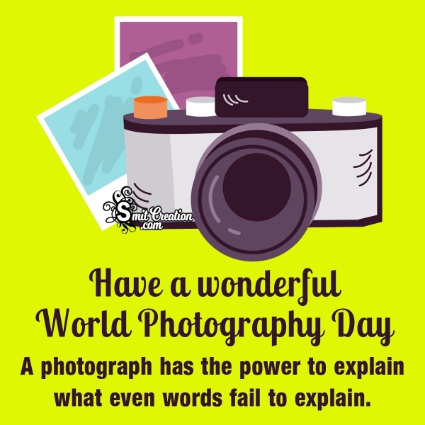 World Photography Day Wishes Quotes