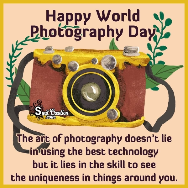 Happy World Photography Day Message