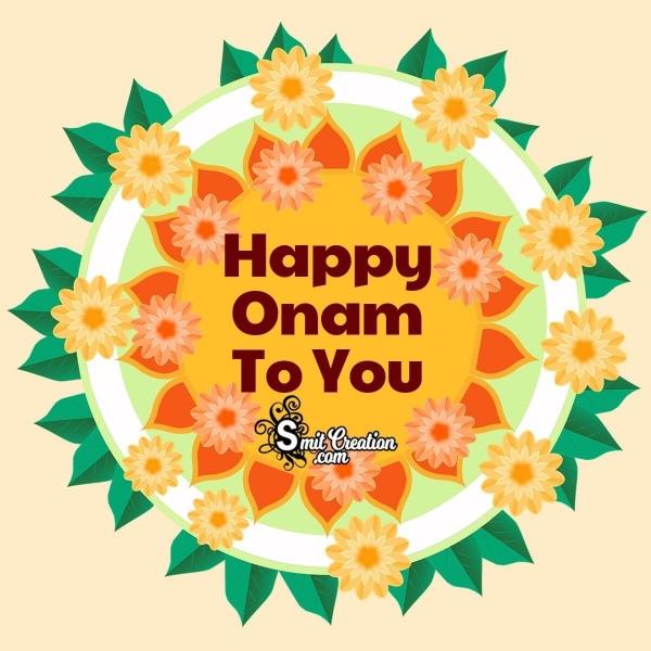 Happy Onam To You
