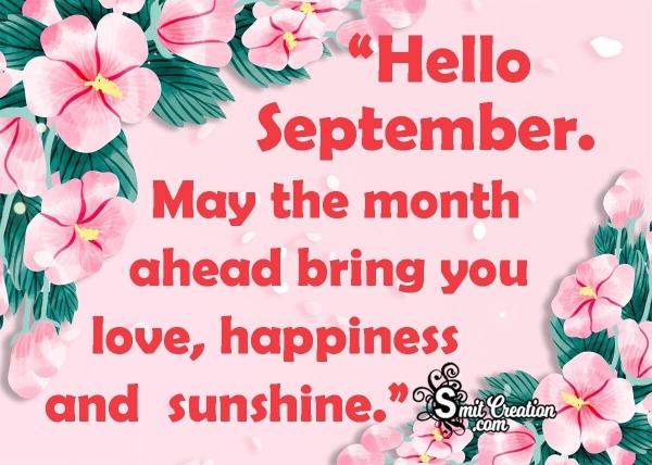 Hello September! Wish Image