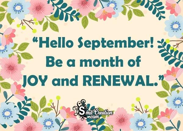Hello, September! Quote