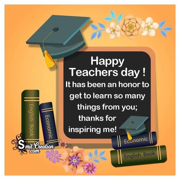 Teachers Day Thank You Message