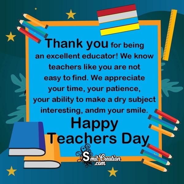 Happy Teacher's Day Messages