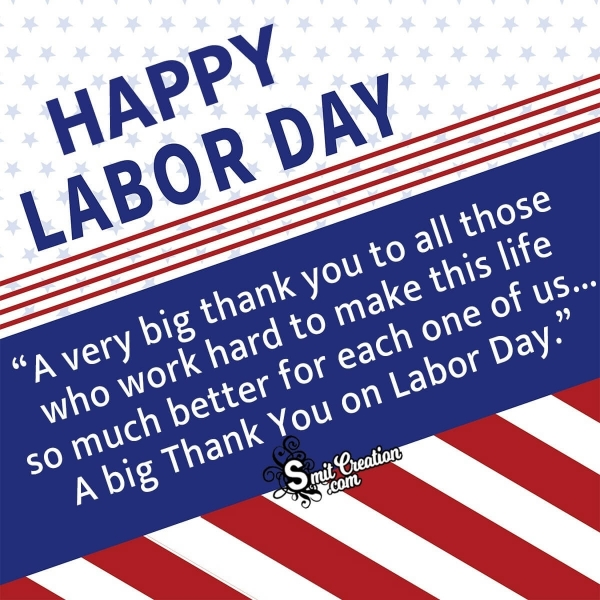 Thank You Messages on Labor Day