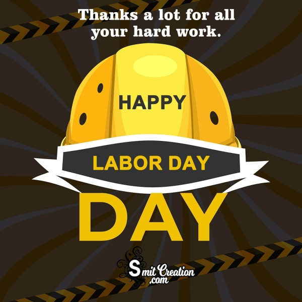 Happy Labor Day Thank You Image