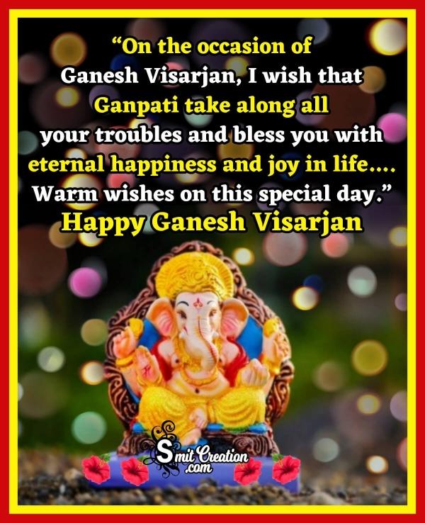 Happy Ganesh Visarjan Wishes