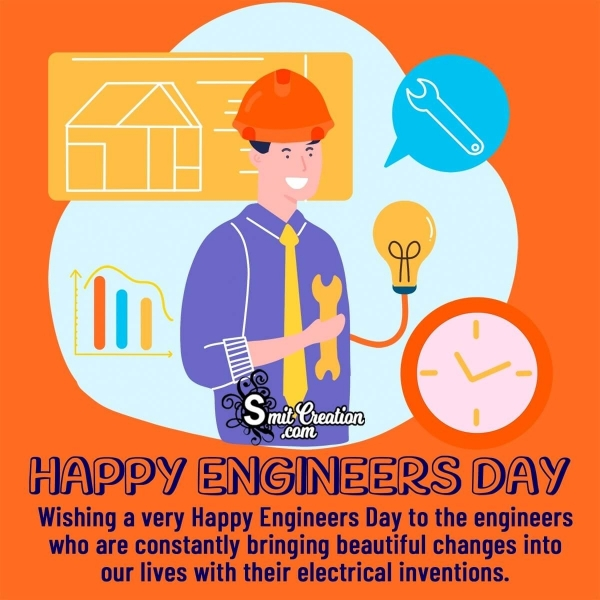 Happy Engineers Day Wishes Messages for Electrical