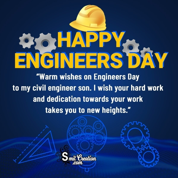 Happy Engineers Day Message for Civil Engineer Son