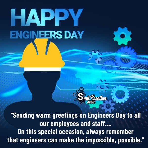 Happy Engineers Day Wishes for Employees