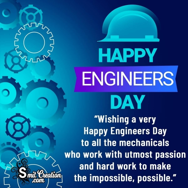 Happy Engineers Day Wishes Messages for Mechanical