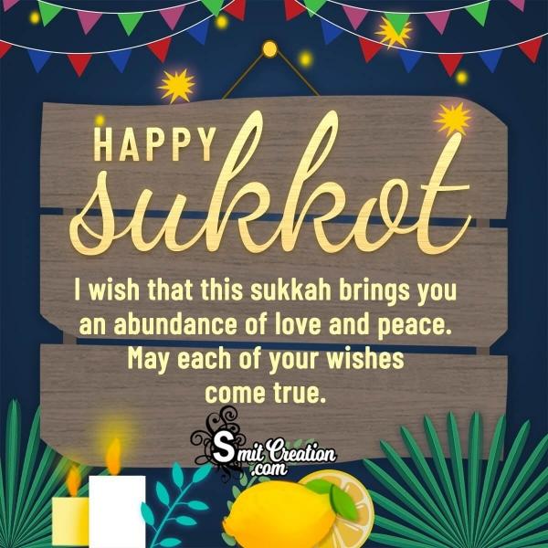 Sukkot Wishes for a Jewish Friend