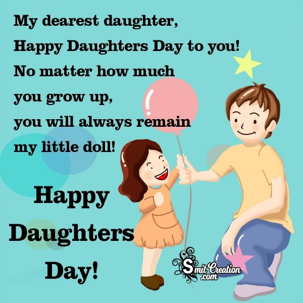 Happy Daughters Day Wishes From Dad