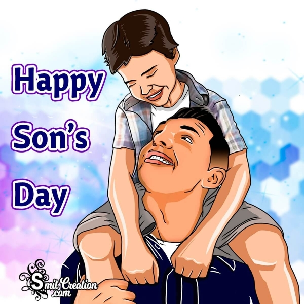 Happy Son's Day Son With Father