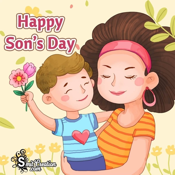 Happy Son's Day Son With Mother