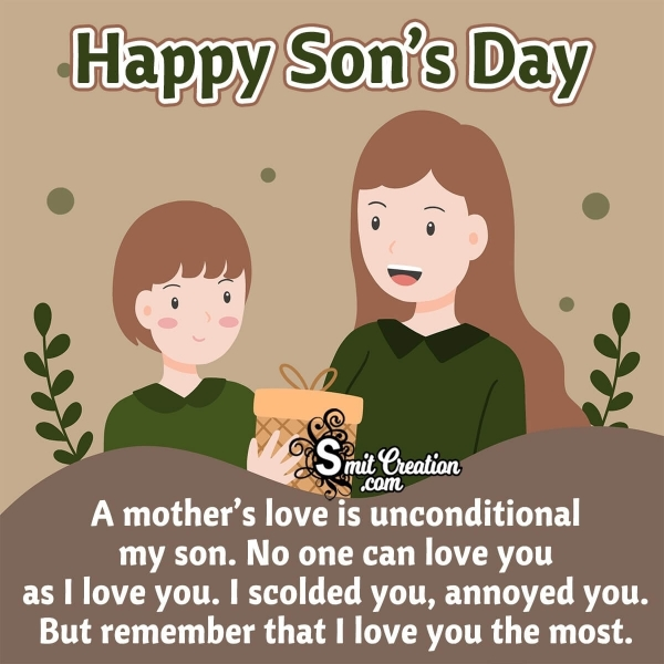 Happy Son's Day Messages From Mom