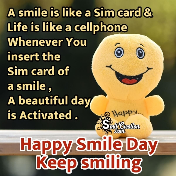 Happy Smile Day Message Image