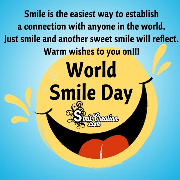 Beautiful World Smile Day Messages