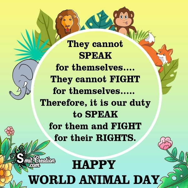 Happy World Animal Day Messages