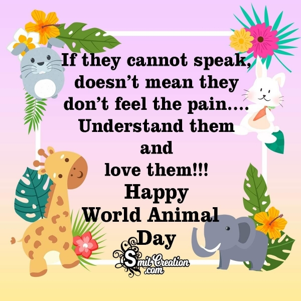 World Animal Day WhatsApp and Facebook Status Messages