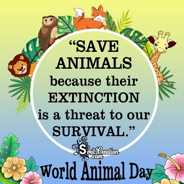 Best and Catchy World Animal Day Slogans