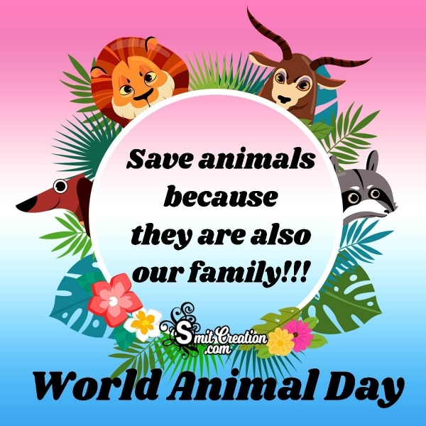 World Animal Day Poster Messages
