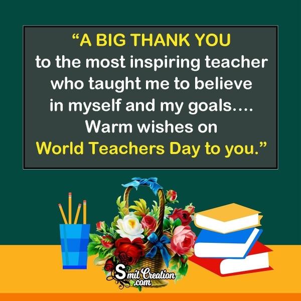 World Teachers Day Thank you Messages